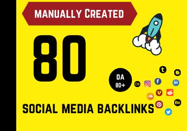 Manually created 80 Social Profile Backlinks