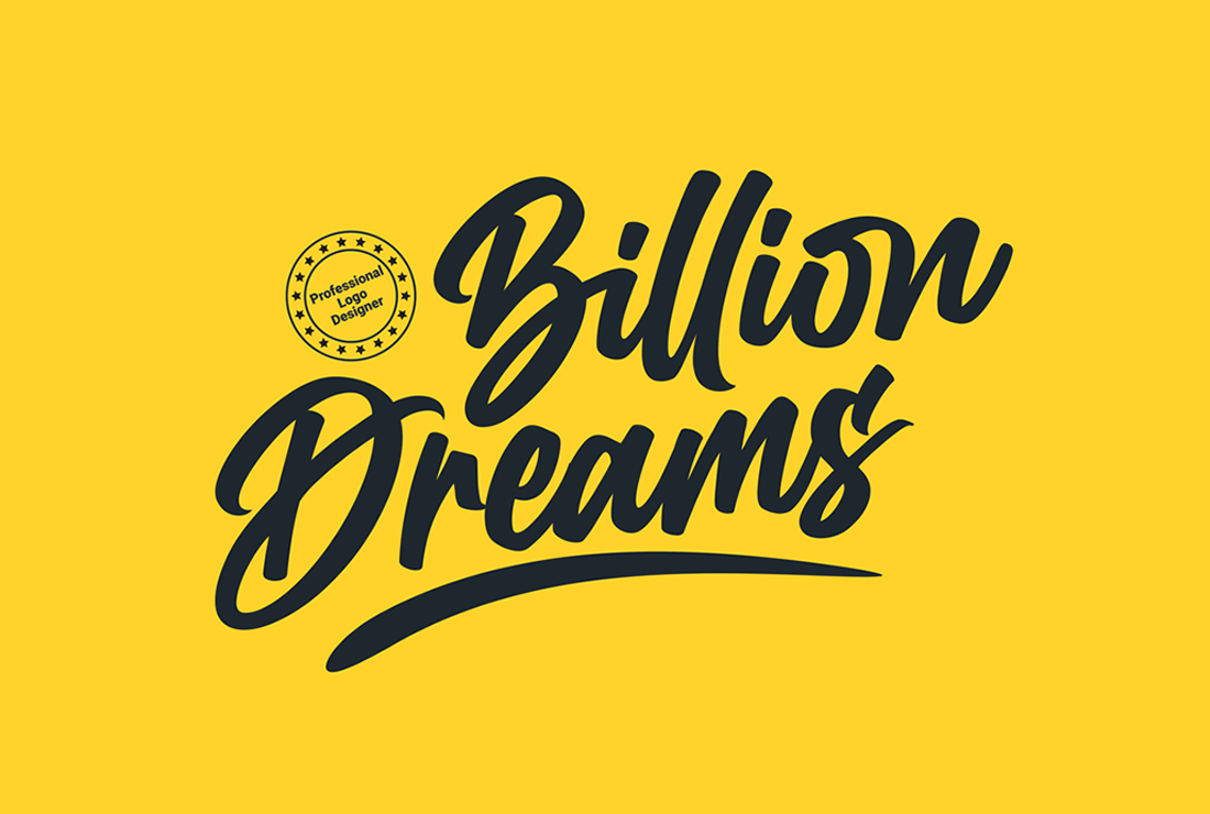 I will create hand lettering and handwritten typography logo design
