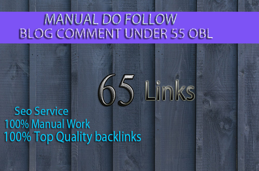 I will create 65 Unique Blog Comments Backlinks On High Quality Low OBL Sites
