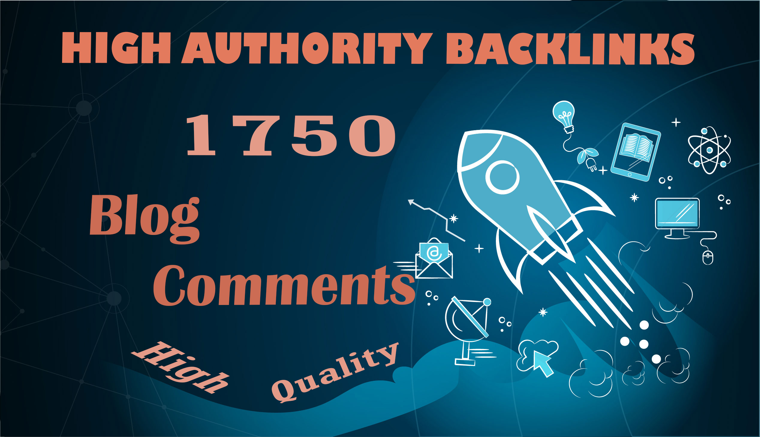 I will build 1750 Blog Comments Backlinks on High Quality DA/PA/TF/CF/DR Sites Google Indexed