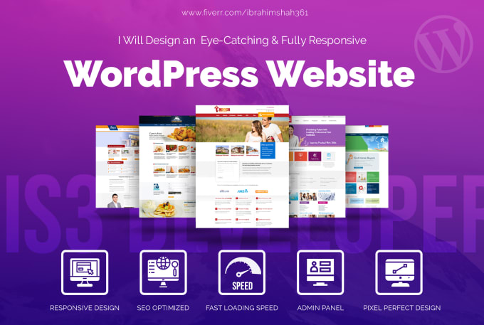 I will design and develop your wordpress website