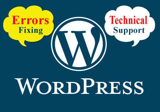 I will fix wordpress bug,  error or technical problem