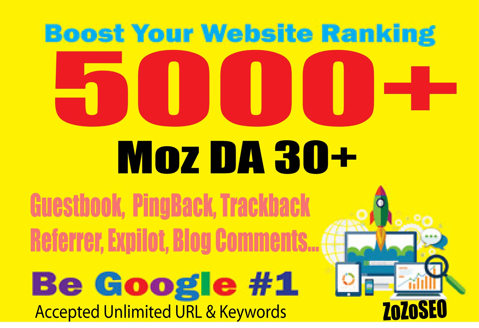 Create 5000+ DA 30+ Mix Platfrom Backlinks,  Promote Your Rank Now.