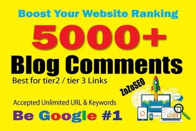 5,000 Blog Comments SEO Backlinks