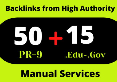 50 Pr9 & 15. Edu/. Gov High Authority Profile Backlinks for website ranking