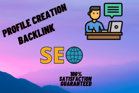 I will create an insightful profile backlink for a professional website