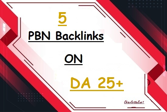 I will Build 5 Permeant PBN Backlinks for your websites