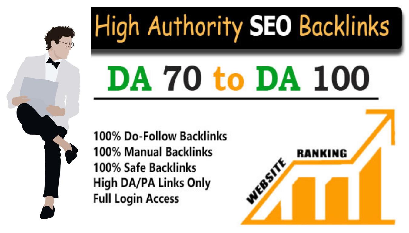 I will do High DA 50 Authority Seo Backlink