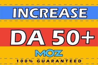 I will increase domain authority 50 da moz