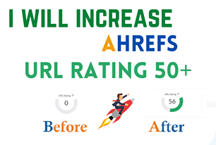 I will increase url rating ahrefs ur to 50