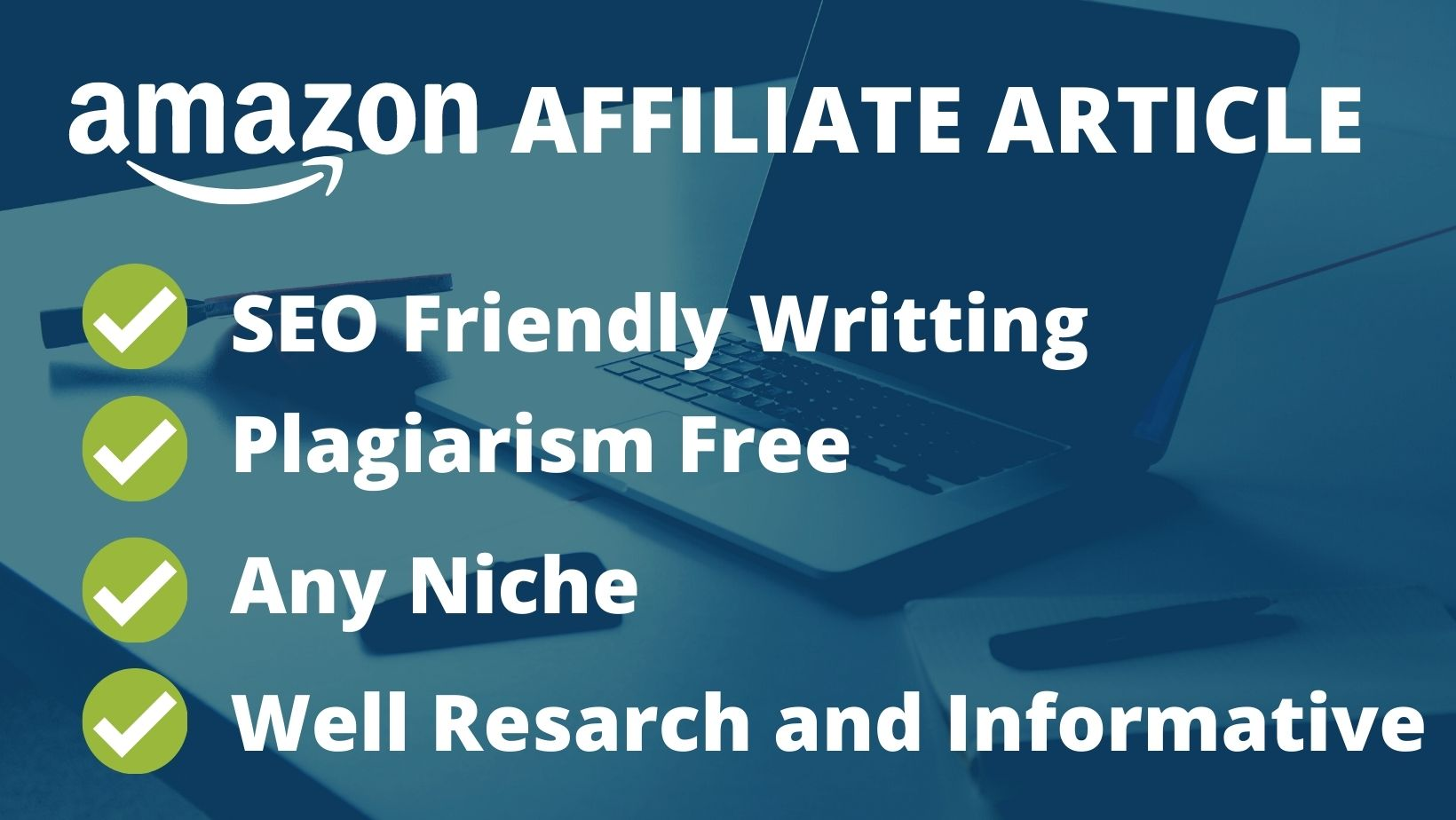 I will write 1000 words SEO friendly Amazon affiliate articles for your WordPress site