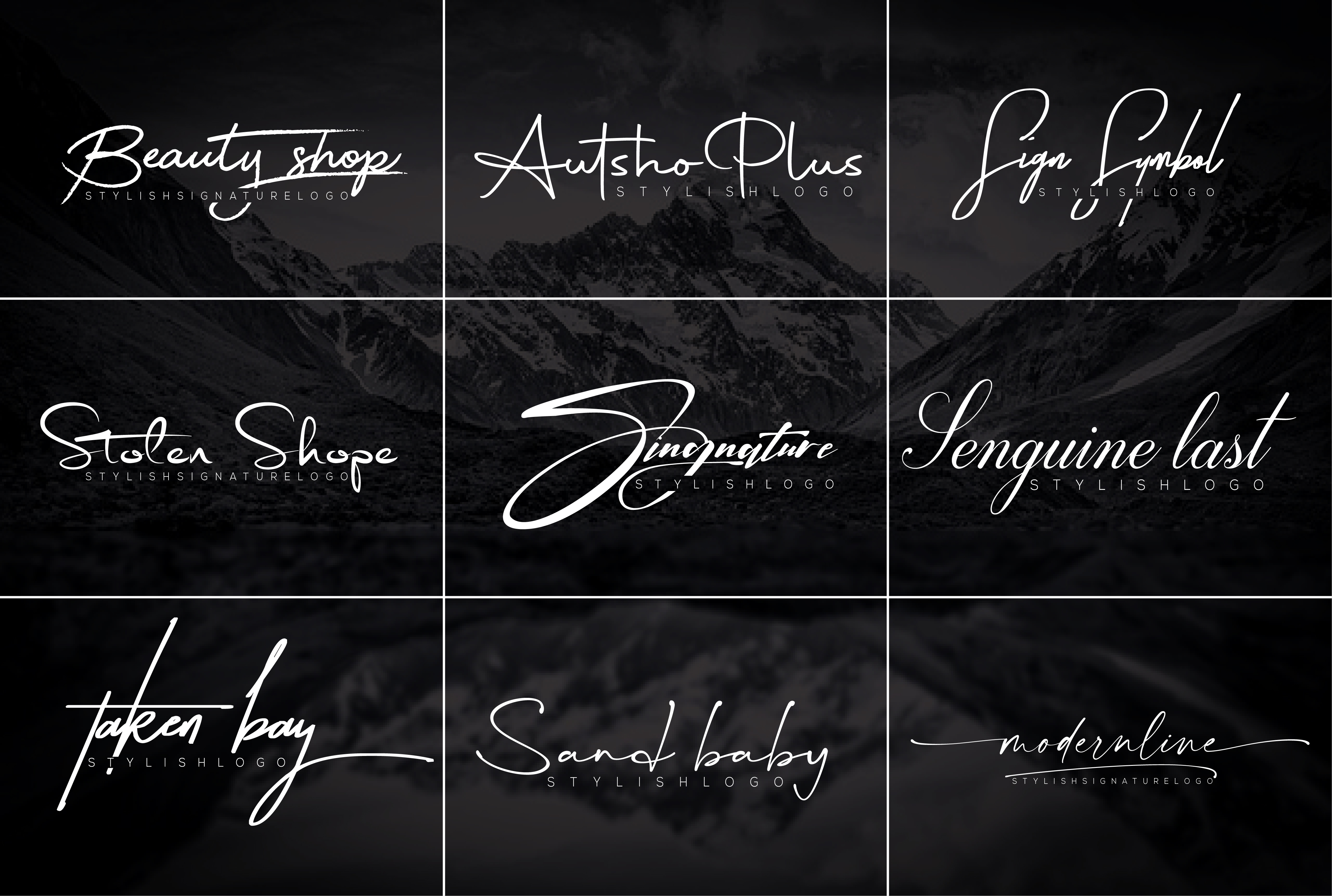 I will design signature,  handwritten,  Scripted,  branding logo