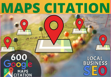 200 Google Maps Citations for local seo high quality backlinks