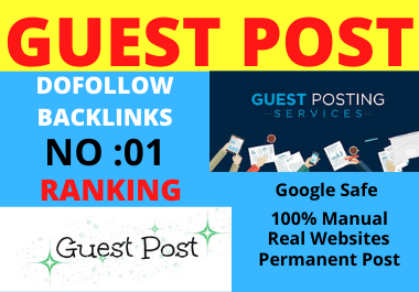 Write and Publish 10 Guest Posts on High Authority website permanent contextual back links