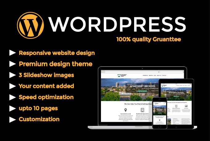 I will create a awsome wordpress website design or blog