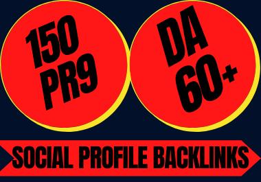 150 PR9 High Authority Social Profile Backlinks