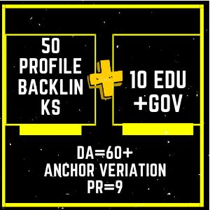 50 PR9 & 10 .Edu /.Gov High Authority social profile backlinks