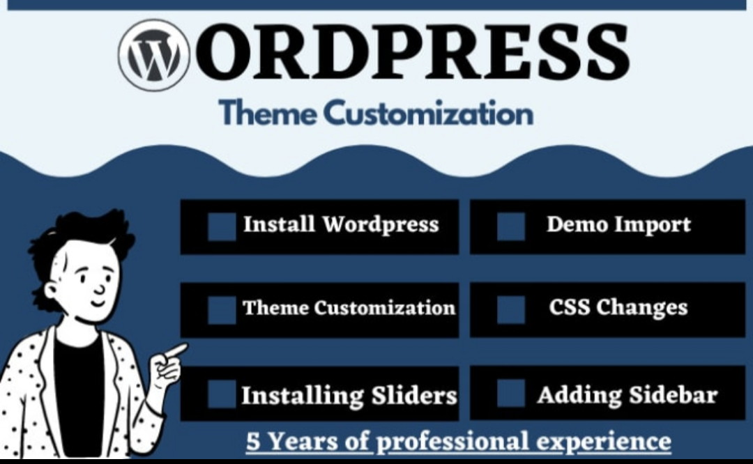 Do WordPress Theme customization like demo and fix any issue