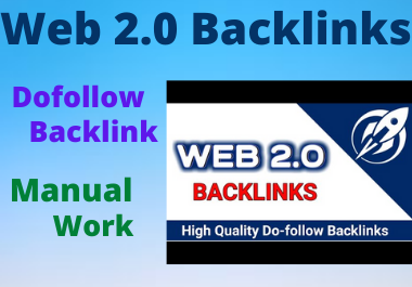 I will build 10 Web 2.0 Backlinks on high authority Do follow permanent backlink for website ranking