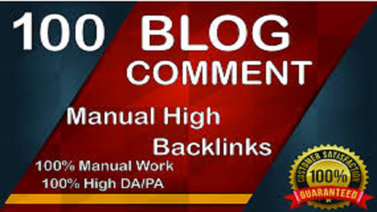 I will create 100 blog comments backlinks High Domain Authority Sites