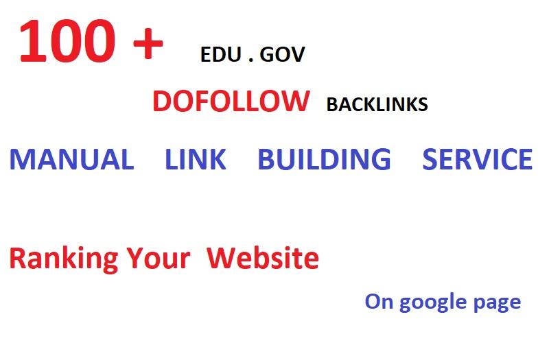 I will do 100 edu gov high quality authority backlinks / ranking your website