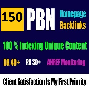 I Will do 150+ High quality dofollow permanent PBN backlinks Authority link building