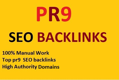 I will build 100 pr9 high authority seo backlinks service /ranking your website