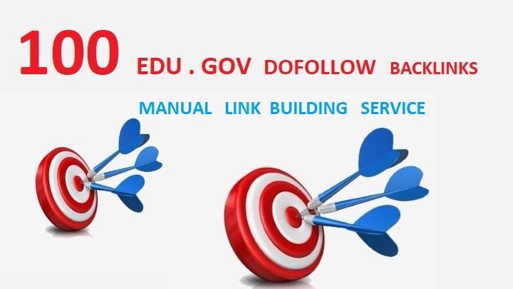 I will do provide you 100+ edu gov high Quality authority Backlinks