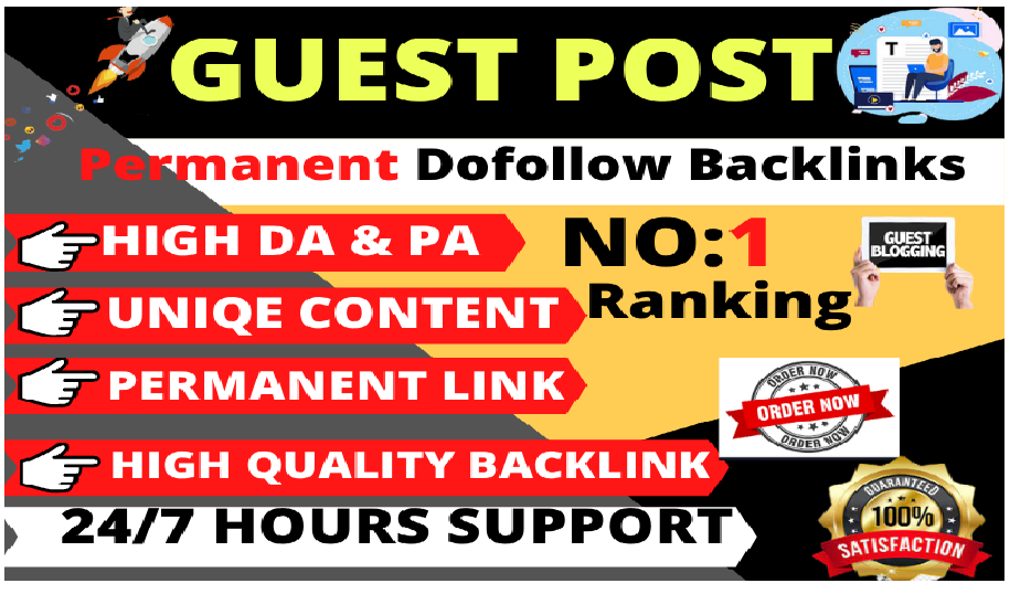 I will do 10 high quality guest posts dofollow backlinks