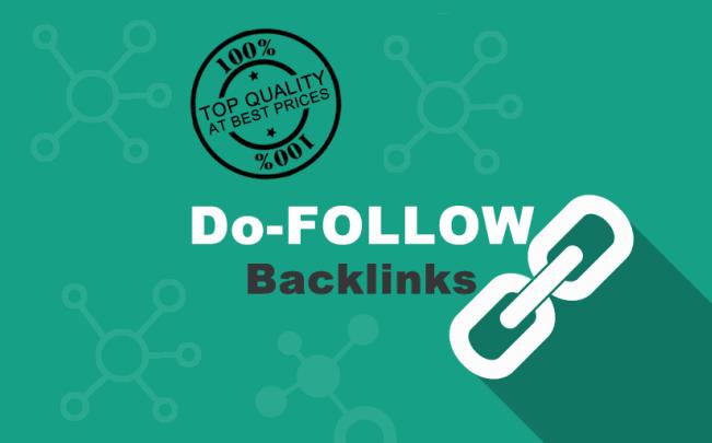 I will do manual high authority quality contextual seo Do-follow backlinks link building