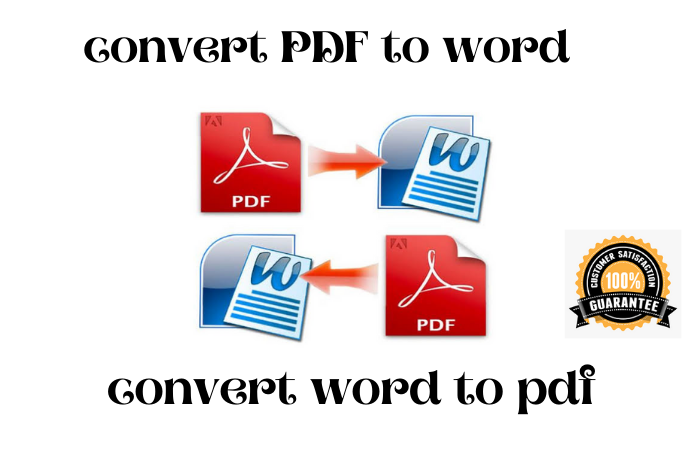 I will convert PDF to word Doc and convert word to PDF.