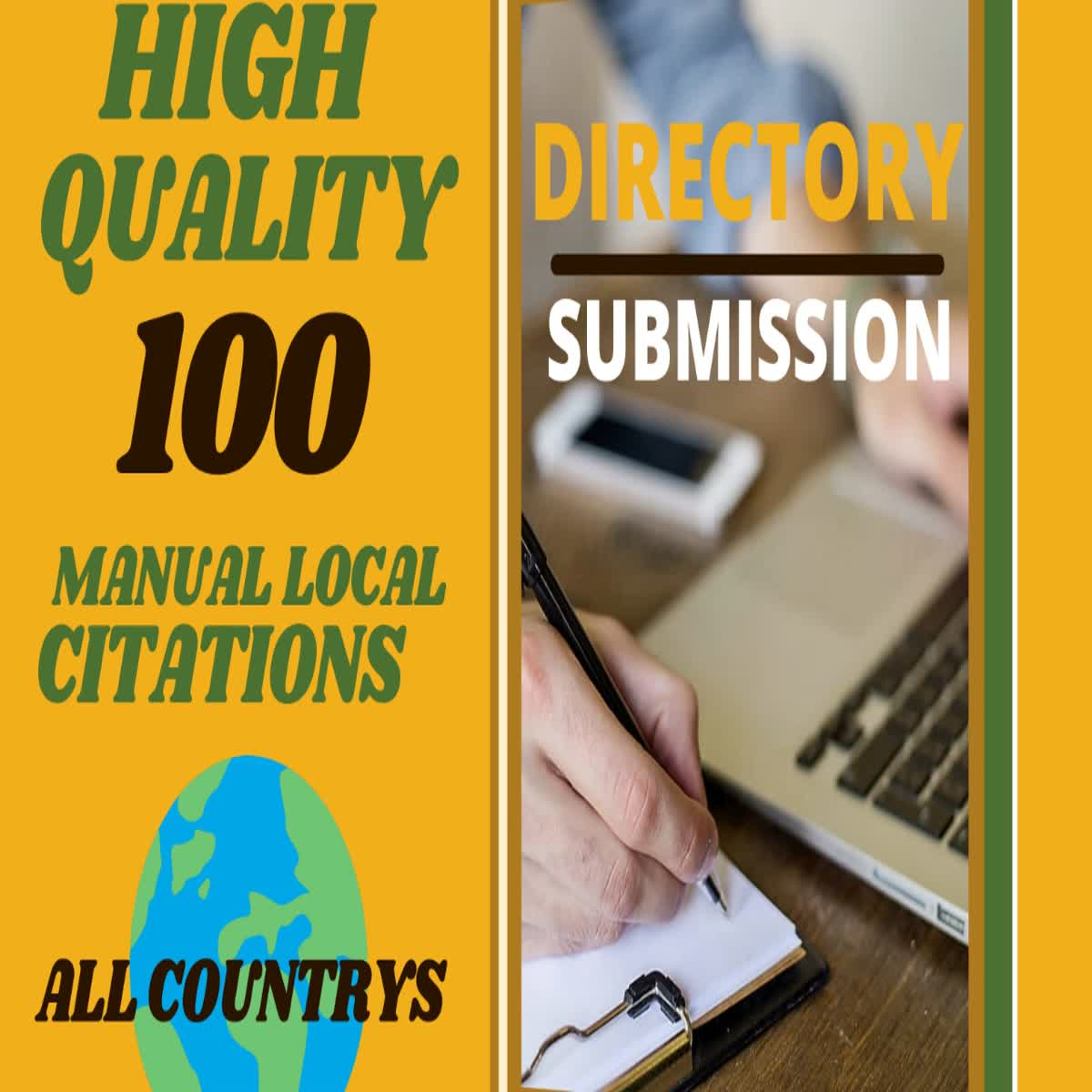 I will create manual 100 directory submission SEO backlinks
