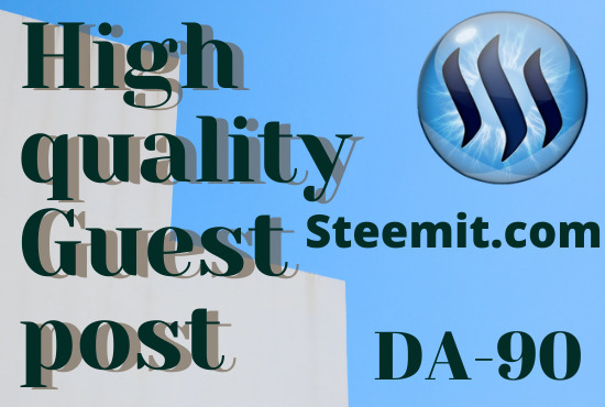 I will write and publish do guest posting on steemit. com