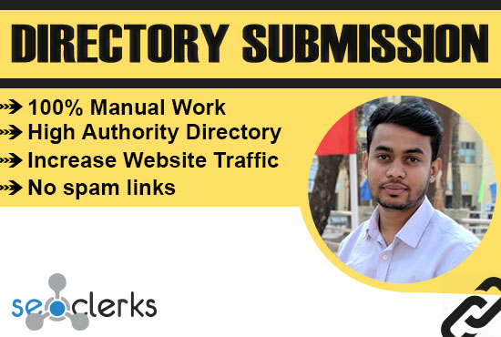 I will provide manually 100 directory submission SEO backlinks
