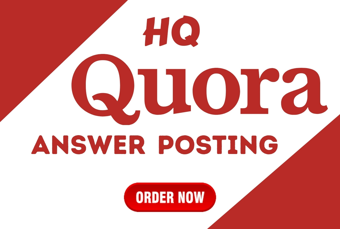 I will Promote website with 5 HQ Quora answer By Different Account