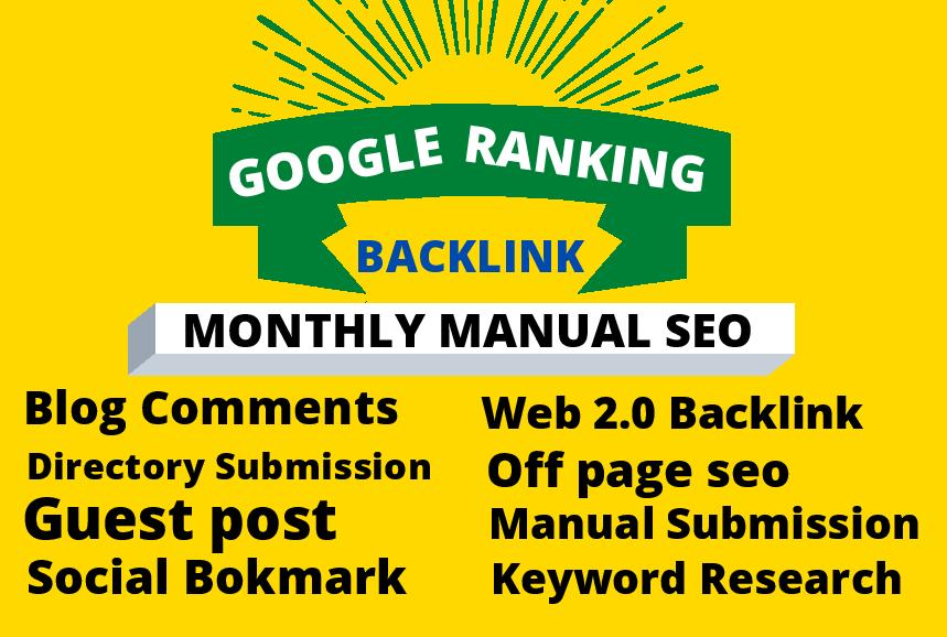 I will monthly local SEO backlinks service toward 1st page google
