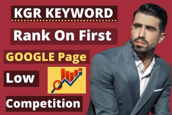 I will do 15 KGR keyword research for niche affiliate website