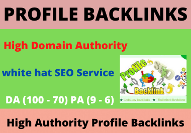 I will Create 25 Profile Backlinks,  Social Media Profile For Boost Google Top Ranking