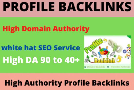I will Create 20 high authority dofollow profile backlinks