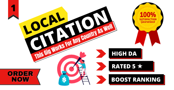 Manually Do 40 local citations or local listings for All Countries