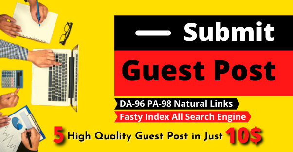 Firstly Indexable 5 High Quality Guest Post Publish with High DA 95,  PA 81 authority Permanent Backl