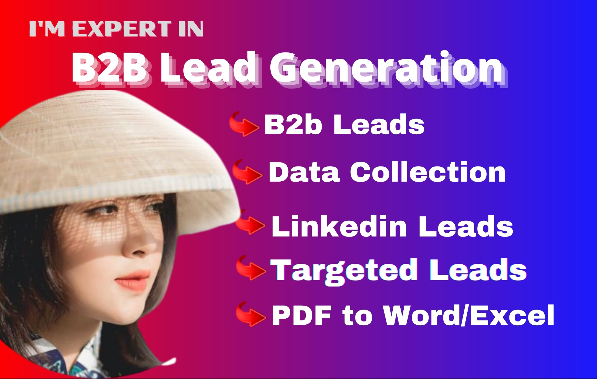 I will be your b2b lead generation