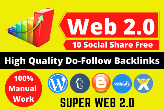I will create 20 manually web 2 0 backlinks