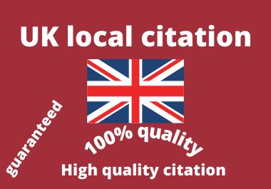 I will Do Manually TOP 25 Live UK Local Citations for Local SEO. Satisfaction Guaranteed