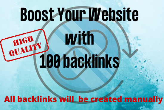 Rank your website with manually create high quality 100 backlinks