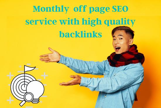 I will provide monthly off page SEO service.