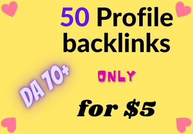 50 social profile creation backlinks manually create