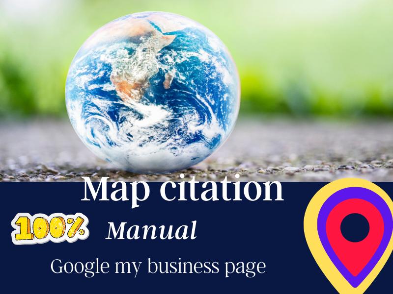 100 Map Citation & Google my business page