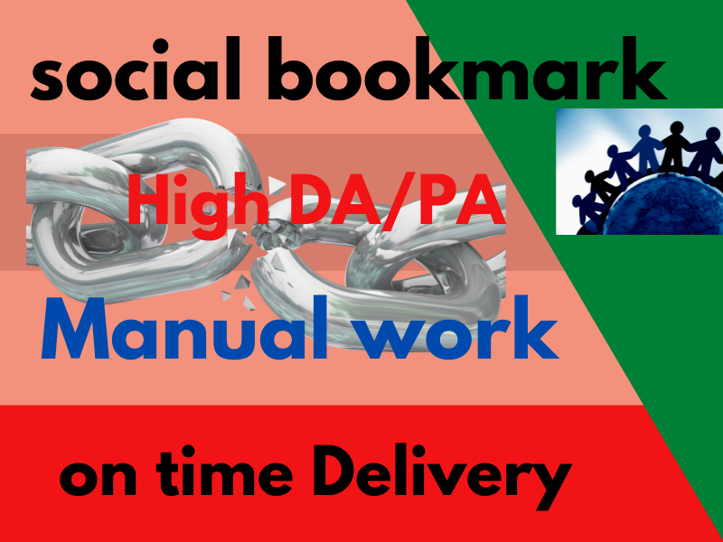 30 high quality social bookmark backlinks manually High DA do follow LinkBuilding