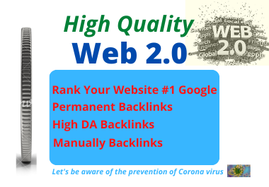 I will Create Manually 30 High authority backlinks web 2.0 for top SEO in Google Ranking